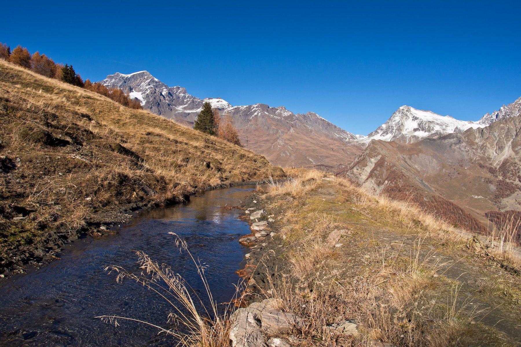 Il piccolo rio a Pian Debat