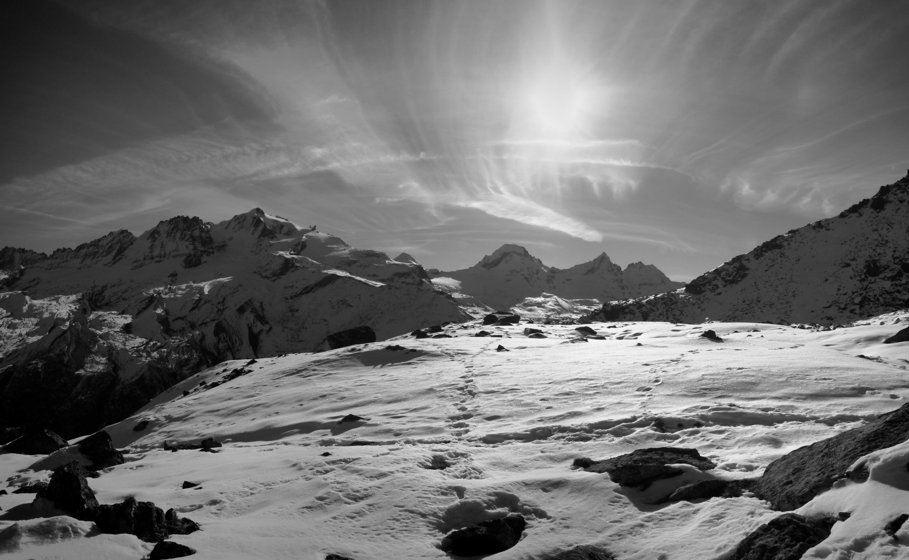 Panorama sul Gran Paradiso e il Ciarforon