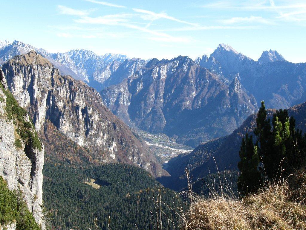 dalla forcella Col Torond verso la valle del Piave