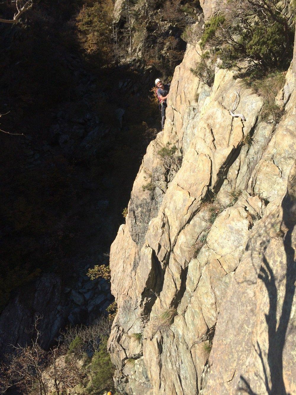 Rama (Monte) Cresta Sud al Castelletto del Rio Carbunea Via Naste-Lunasi 2015-11-08