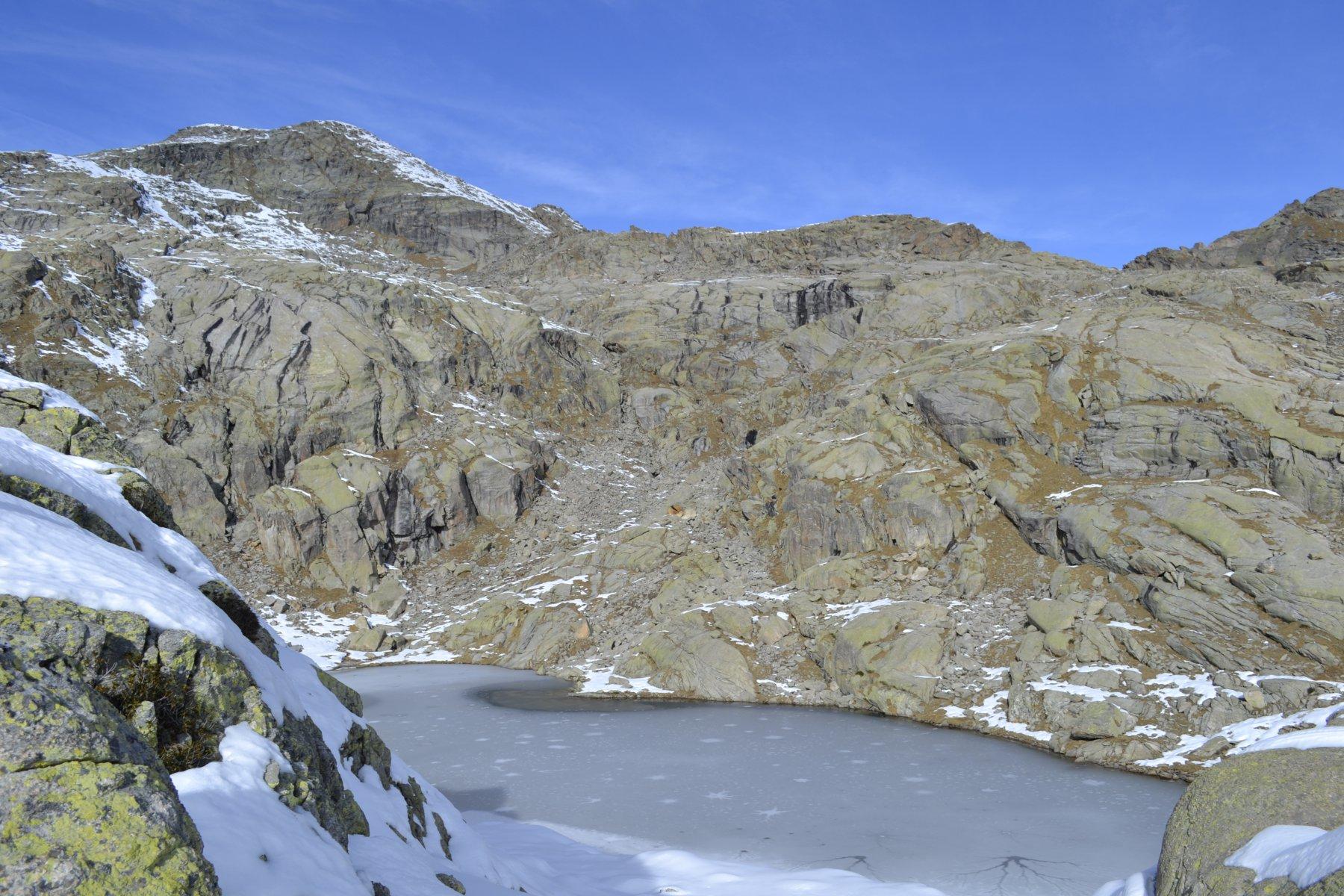 Lago ghiacciato a 2555m