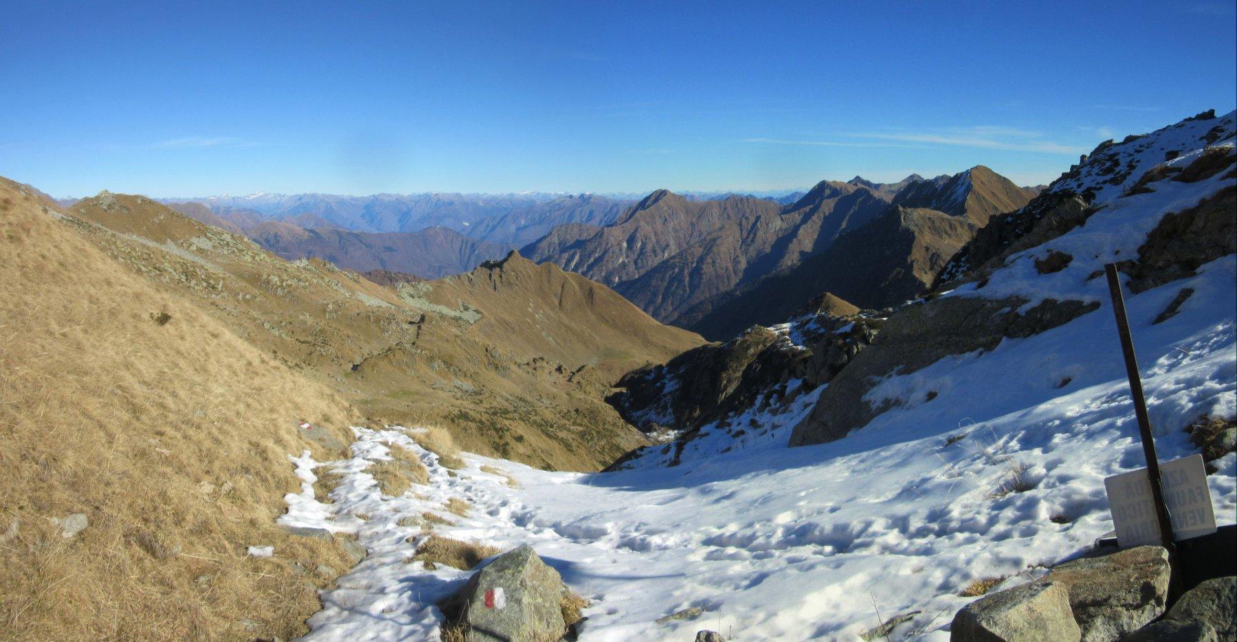 Vista sulla Val Mastellone