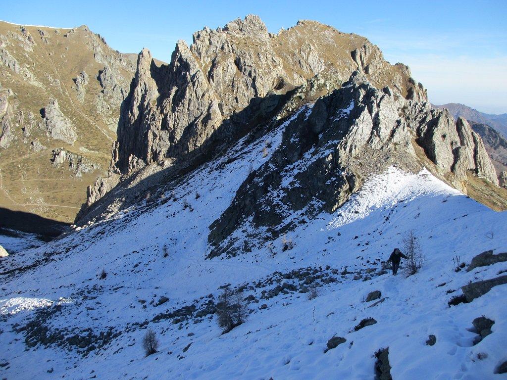 Rocca Parvo,salendo al colle Nais