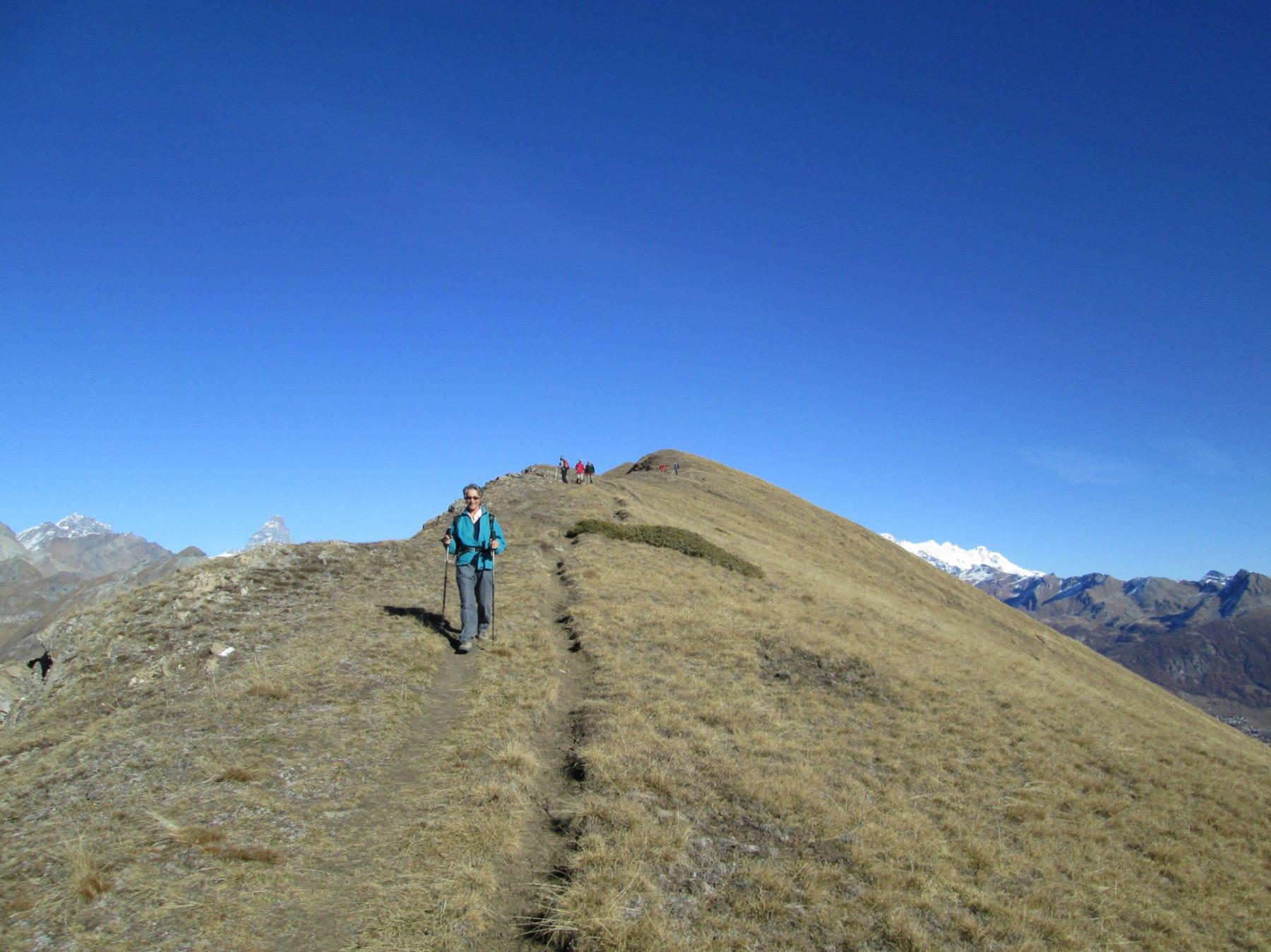 sentiero di cresta verso Cima Longhede