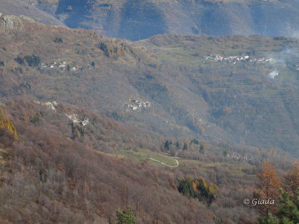 Le borgate Chioraira, Porcirette Sottane, Chionea con parte del percorso