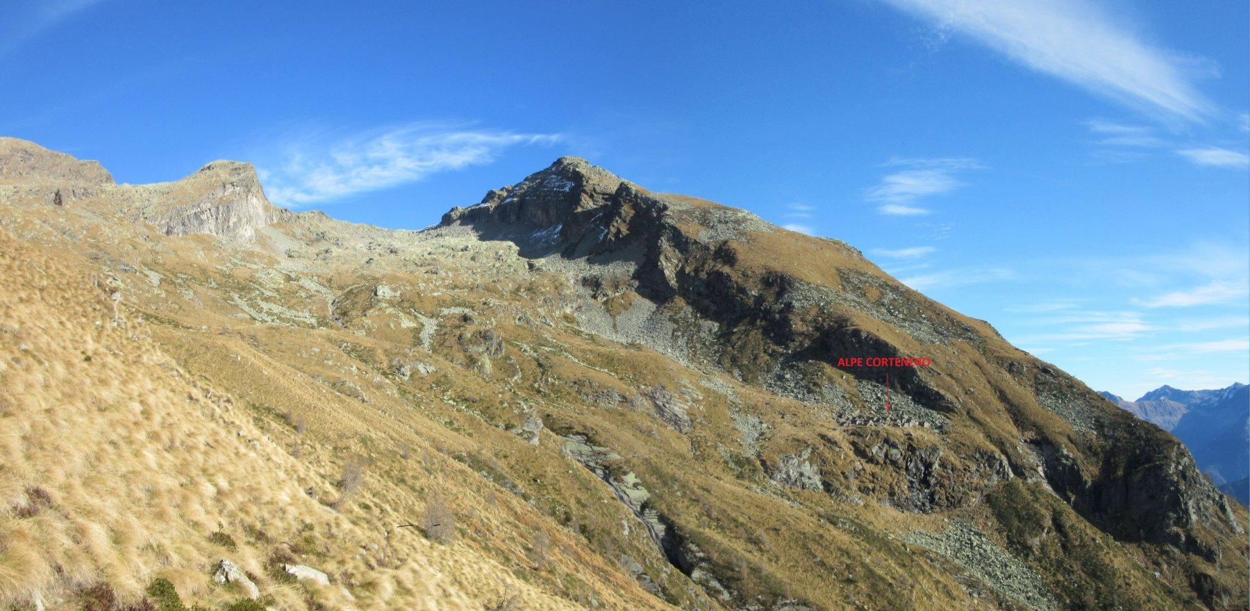 Panorama sull'Alpe Cortenero