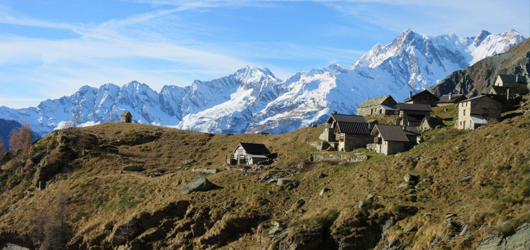 Alpe Colla con il Monte Rosa