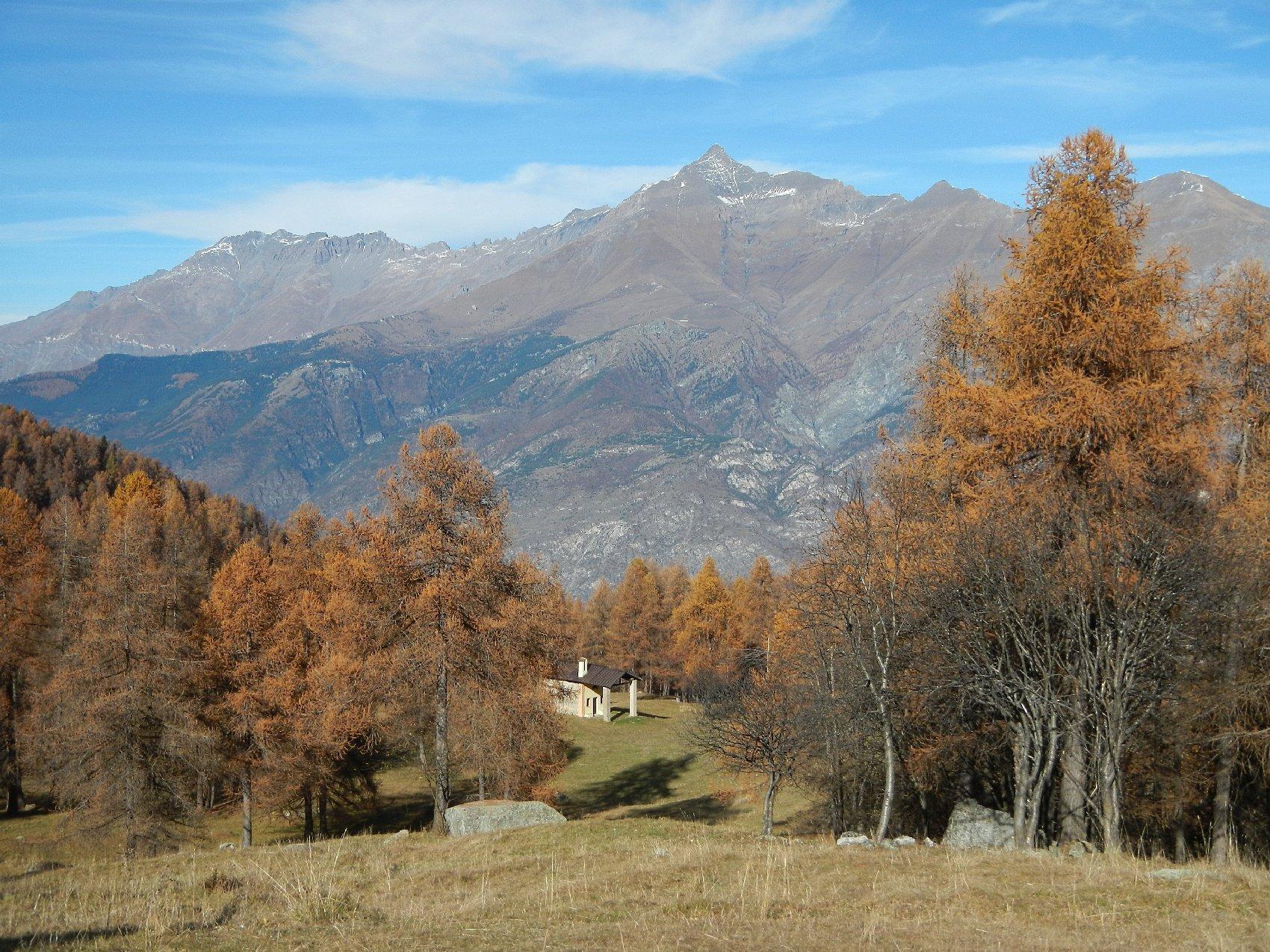 panorama dalla piccola Borgata Teullie 1473 m.
