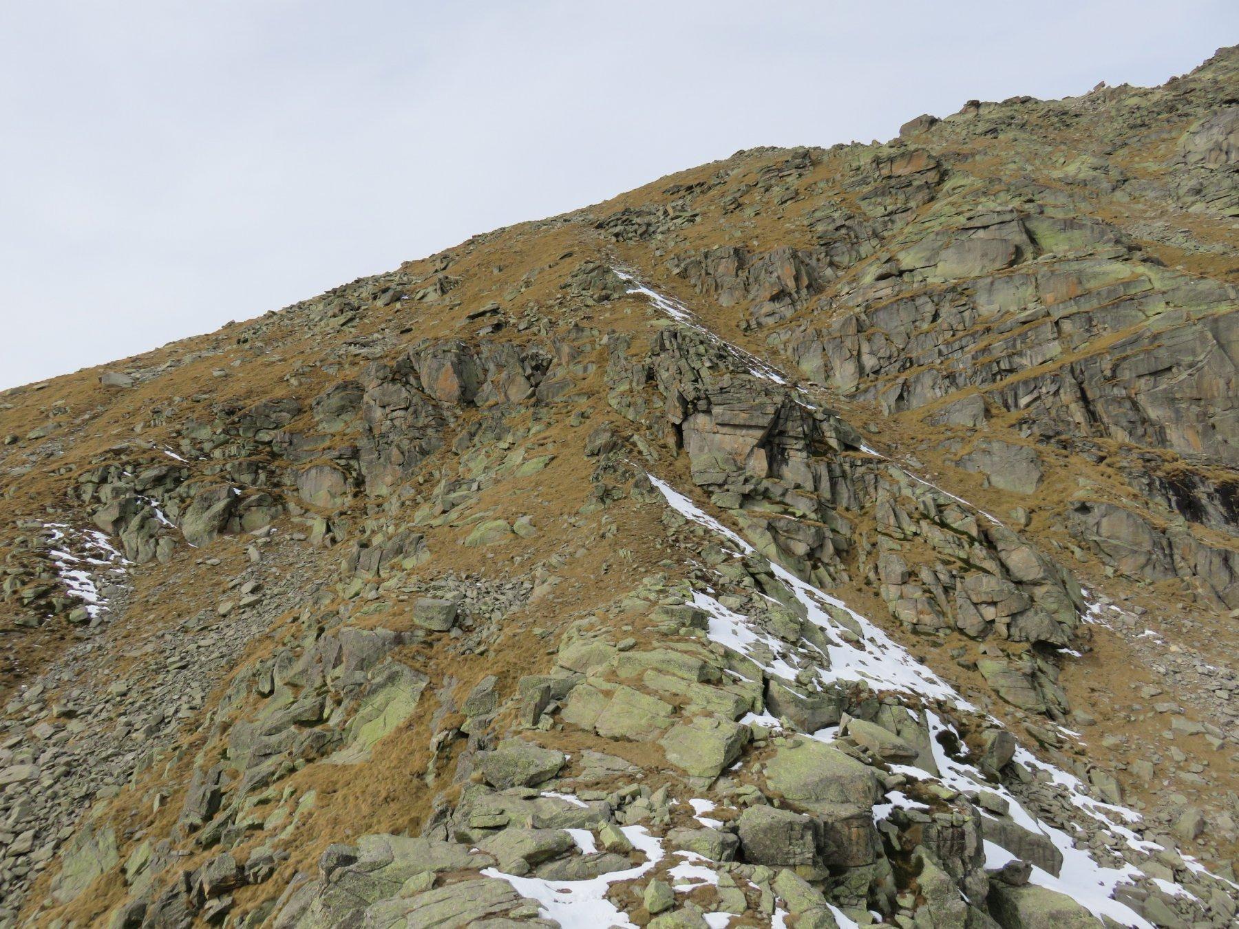 Cresta est di salita alla Punta del Carro