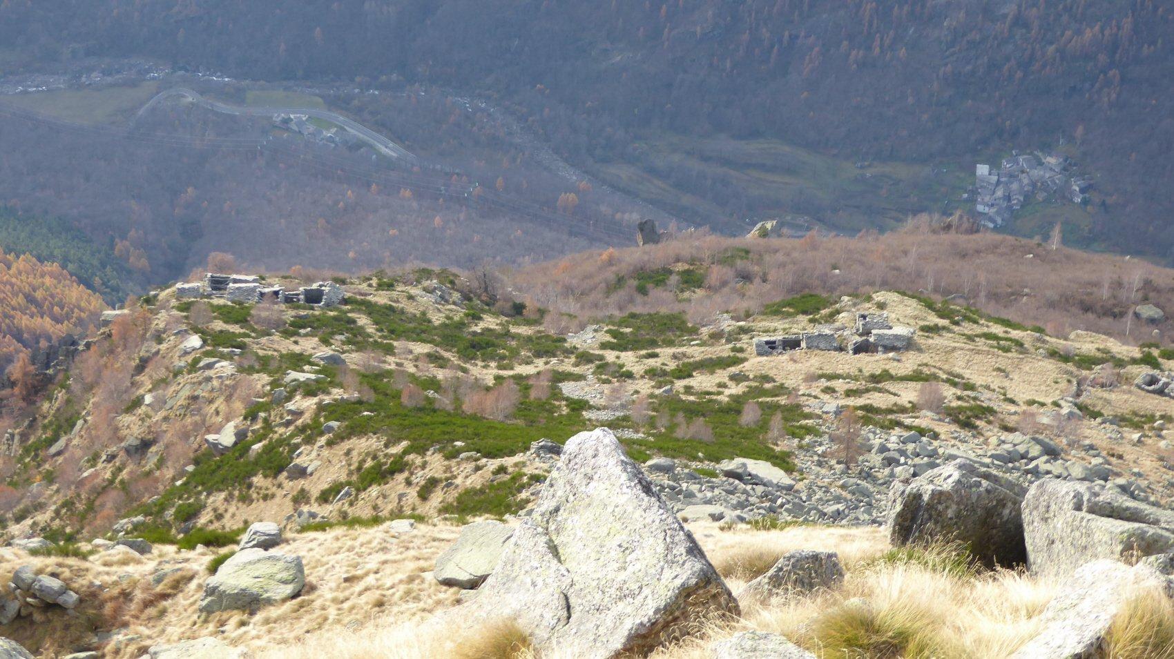 Alpi Ambrella dall'Alto,in basso la Borgata Jerener