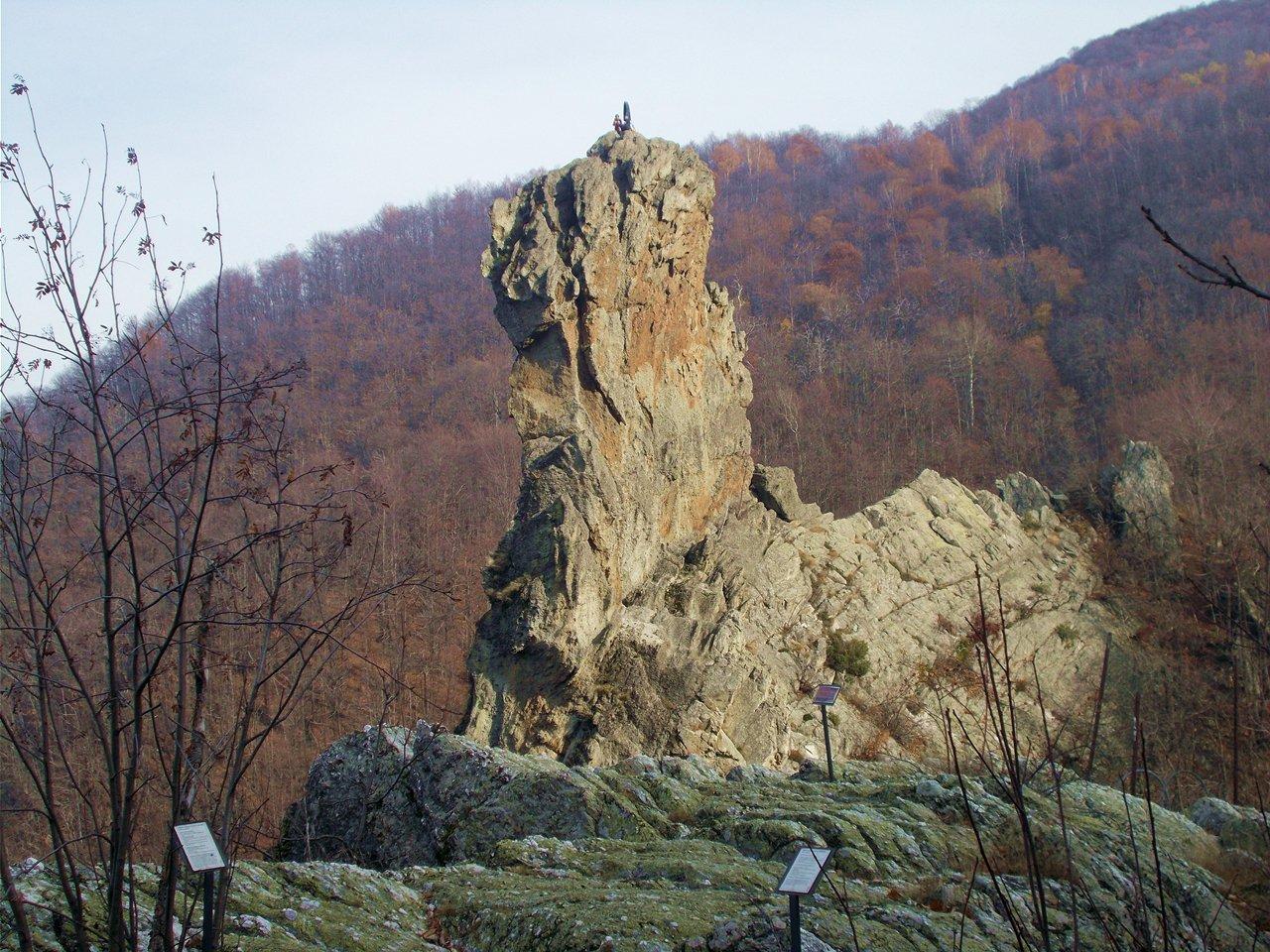 La rocca ,come appare dal sentiero di avvicinamento