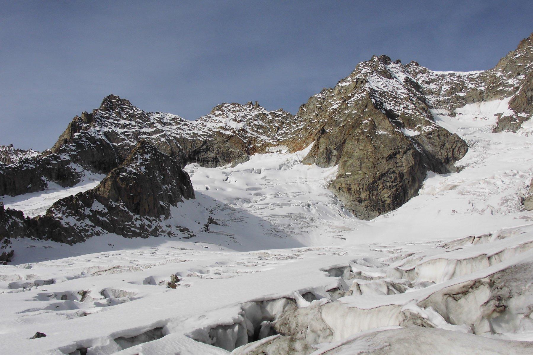 Bacino ghiacciaio del Triolet