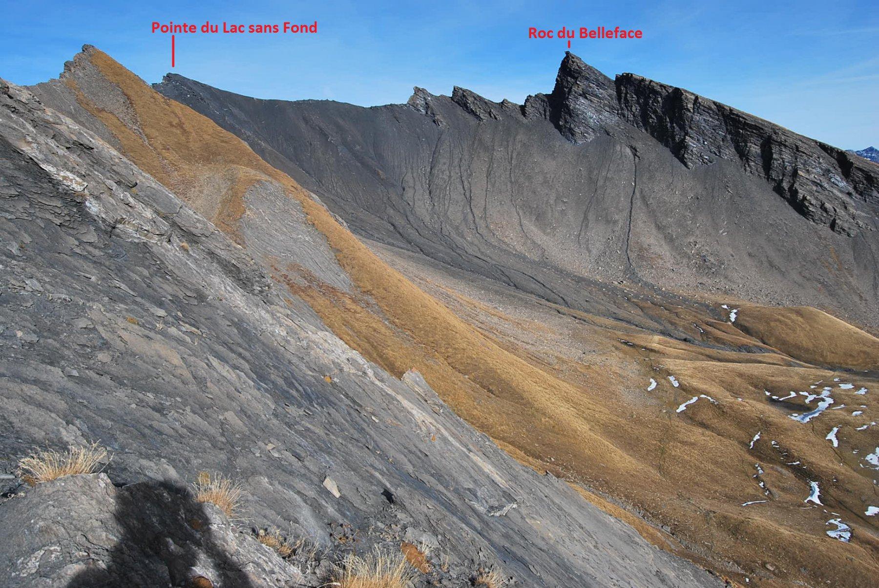 Sans Fond (Lac,Pointe du) dal Colle del Piccolo San Bernardo 2015-11-14