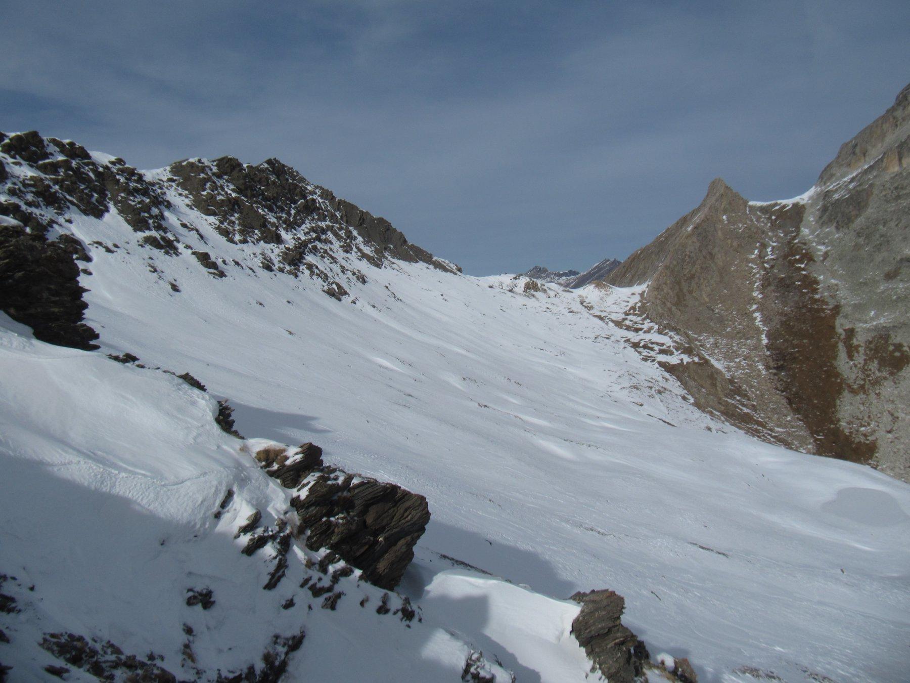 Discesa dal Colle di Vers sul versante della Val Maira