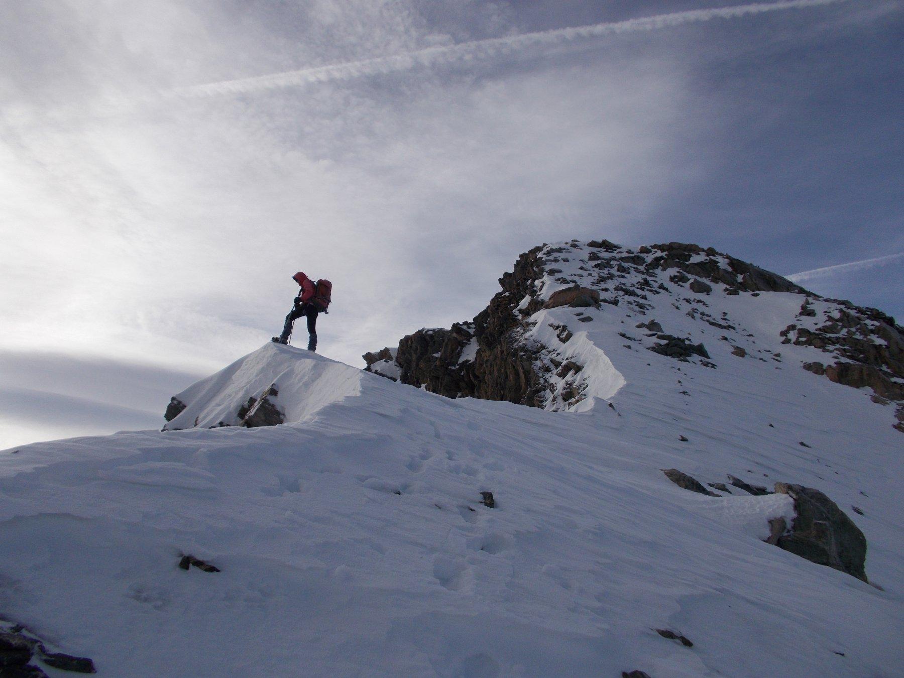 sulla cresta nord-est al Pelaou Blanc..