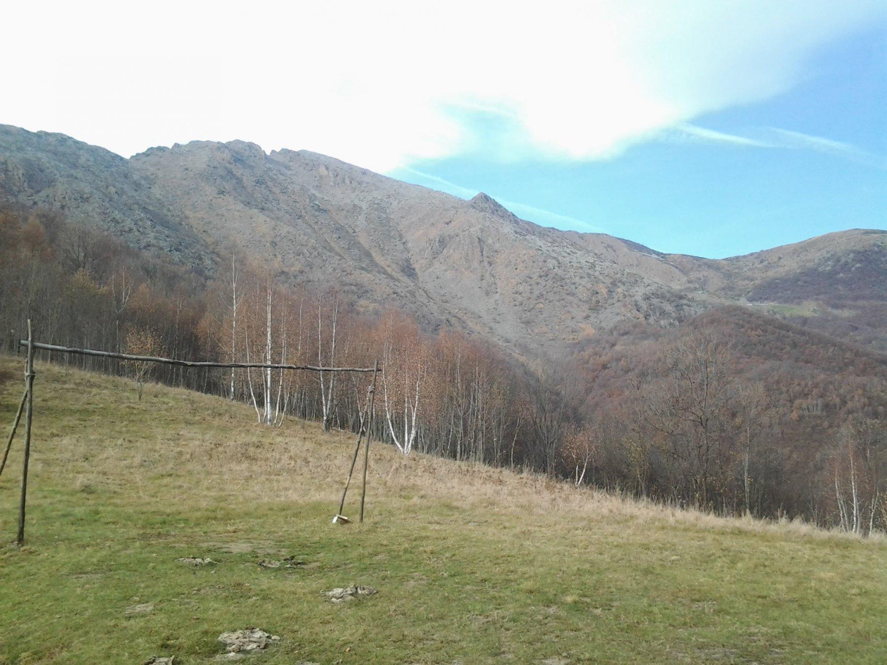 Poco sopra frazione Monti, si esce dalla civilta'...