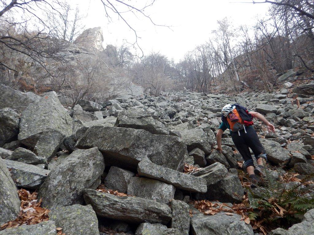 Ultima parte avvicinamento su pietraia