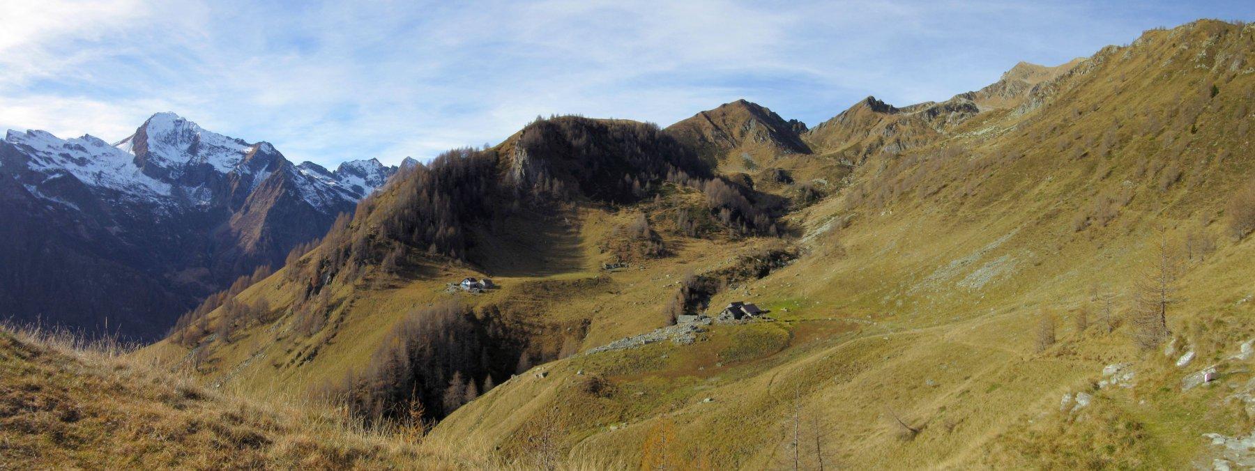 Panorama sul pianoro località Alpe Vallaro