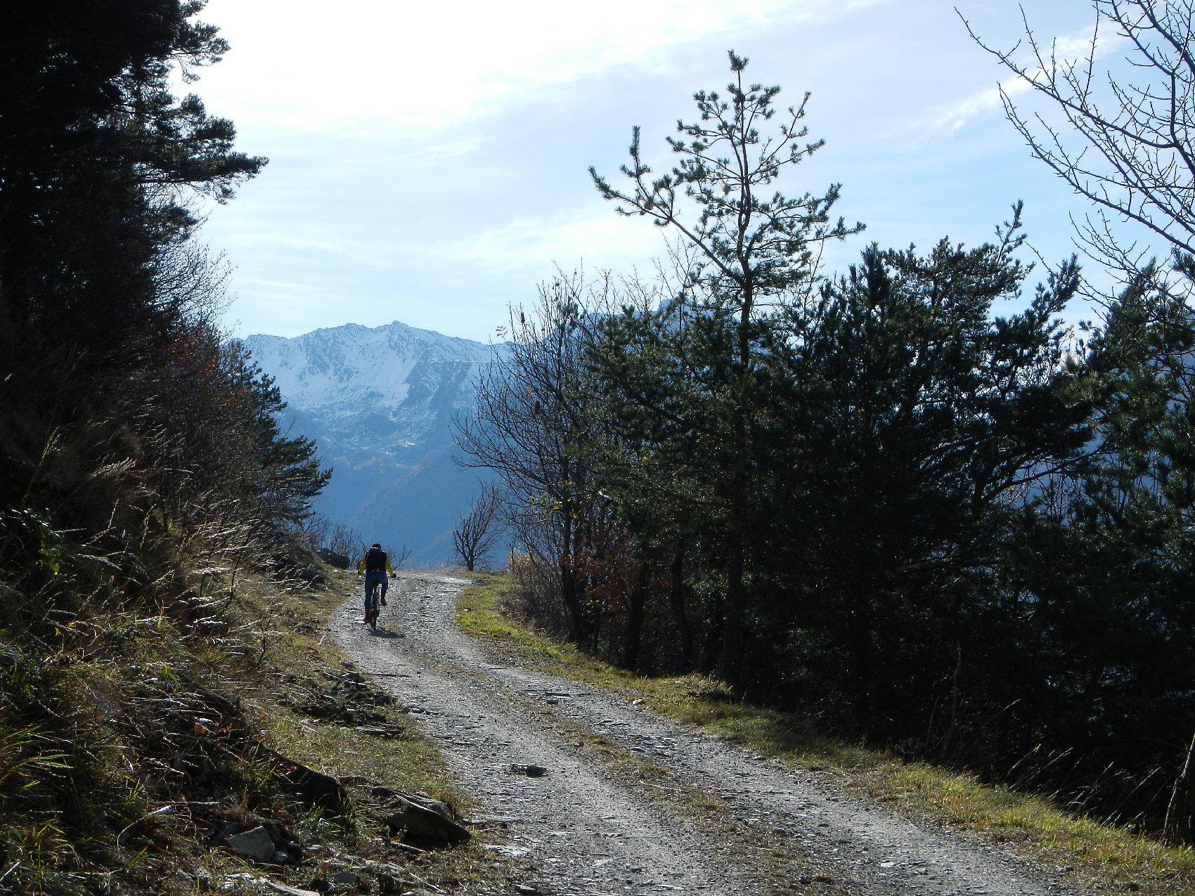 il tratto dopo il bivio Mompantero Vecchio-Chiamberlando
