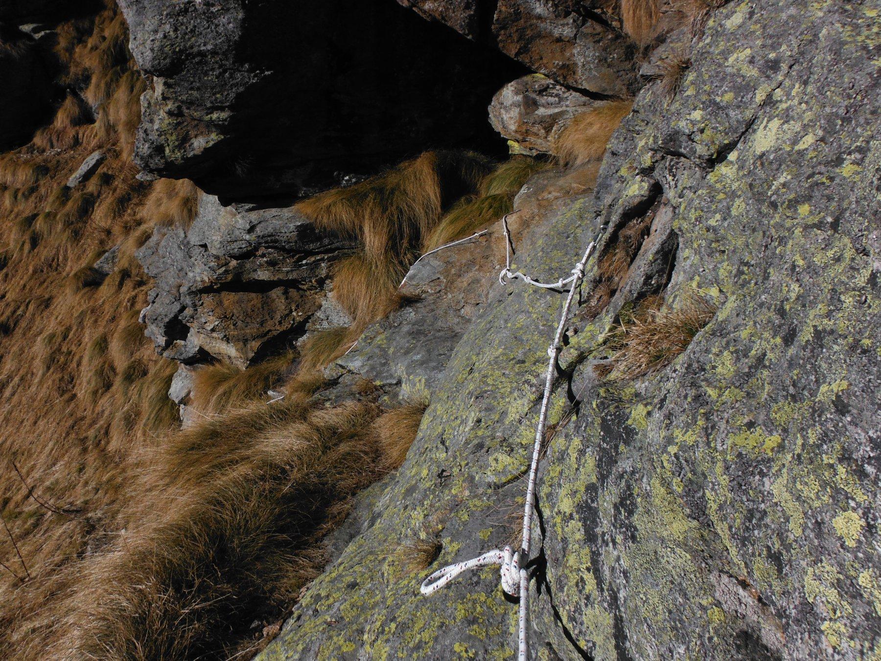 Il tratto con catena e corda