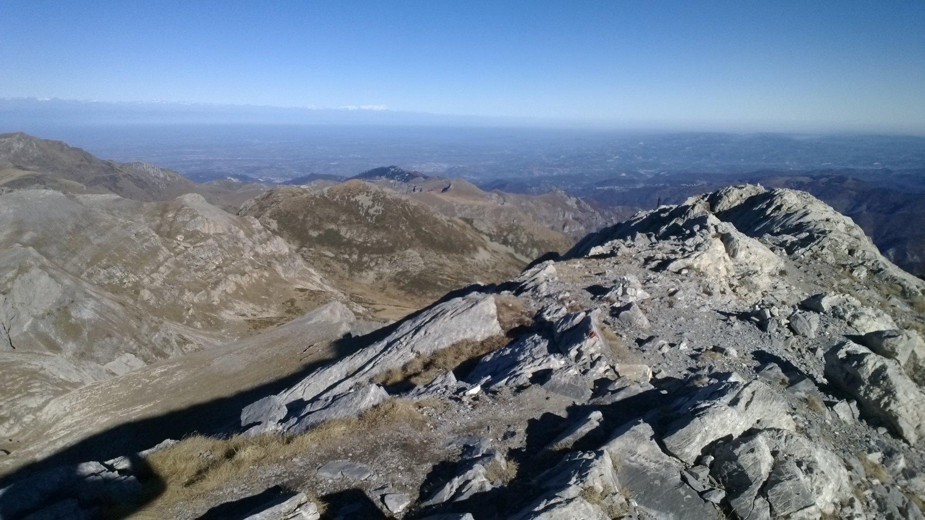 panorama dalla cima sulla pianura monregalese