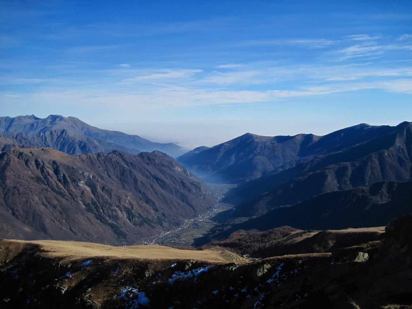 Panorama sulla pianura dalla vetta