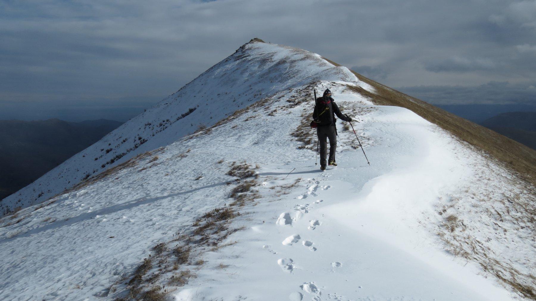 salendo verso la cima del Morfreid (21-11-2015)