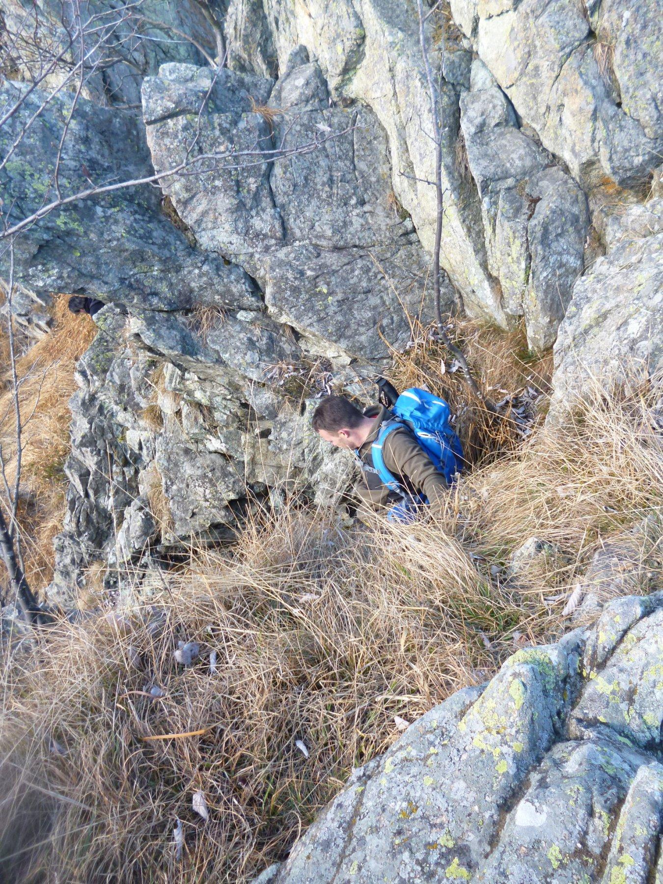 canalino di uscita dalla cresta