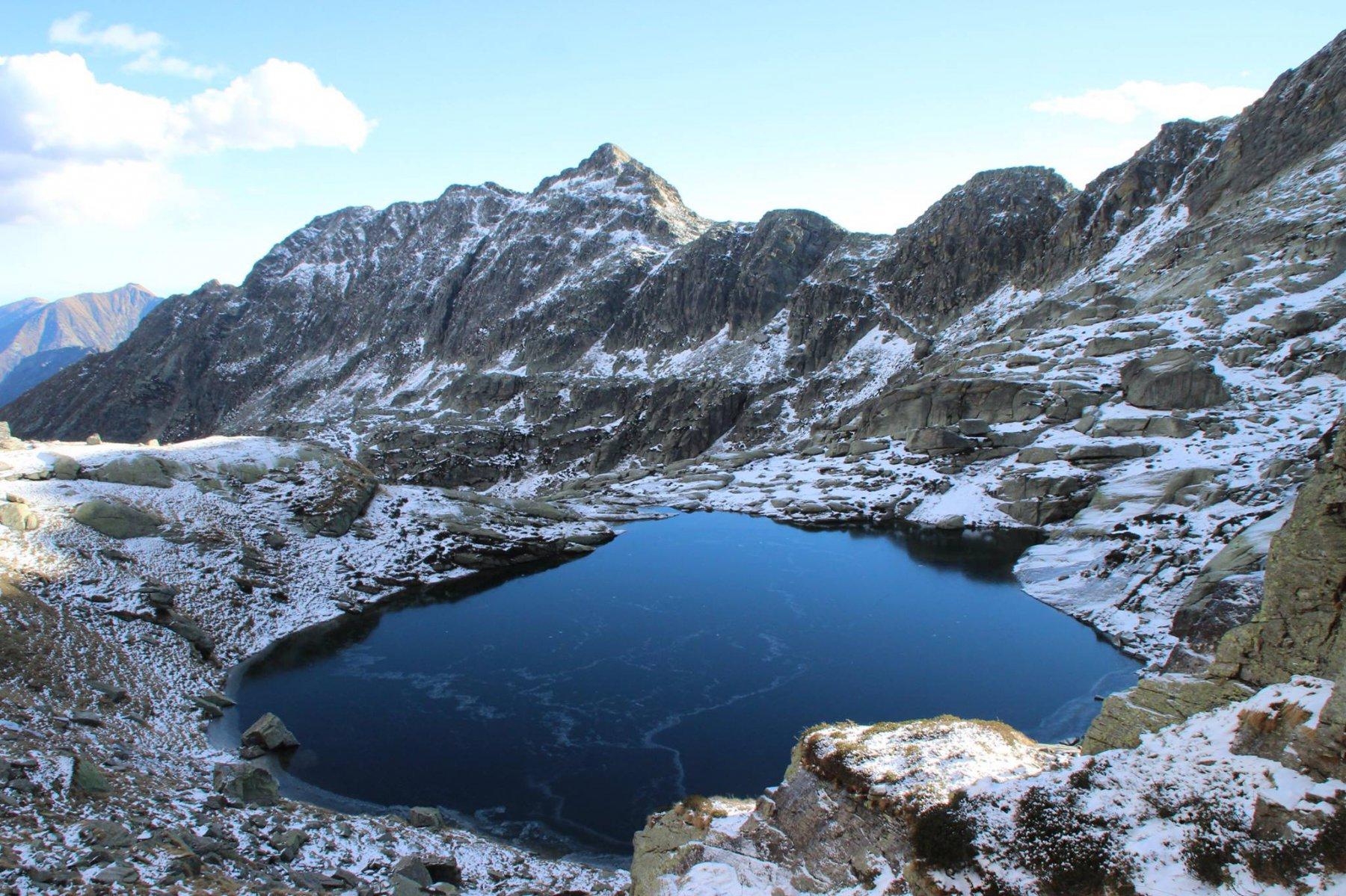 Il lago ed il passo del Boiret