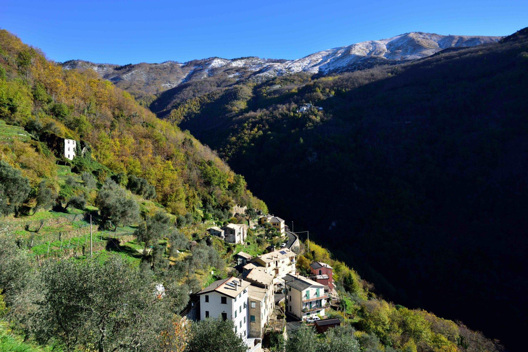 Lorsica e il Monte Ramaceto (m 1318)