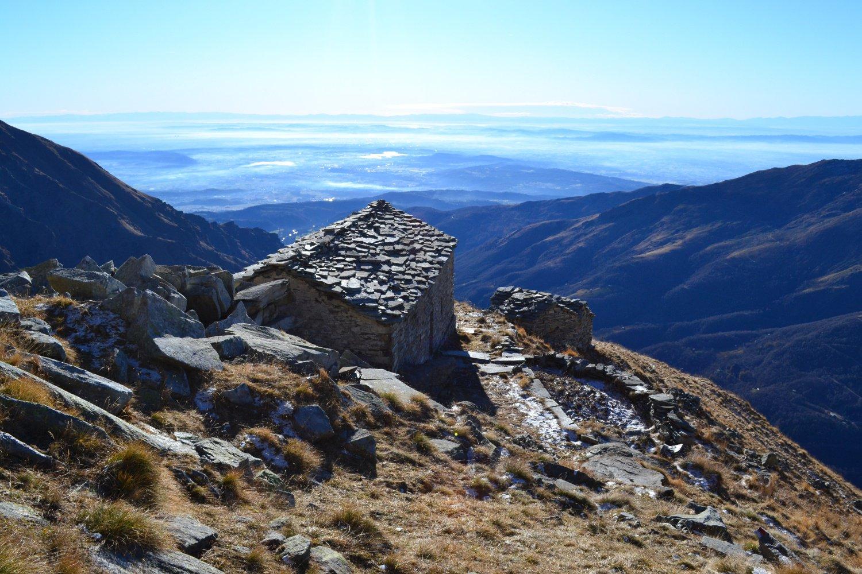 in direzione della pianura dall'Alpe Vailet