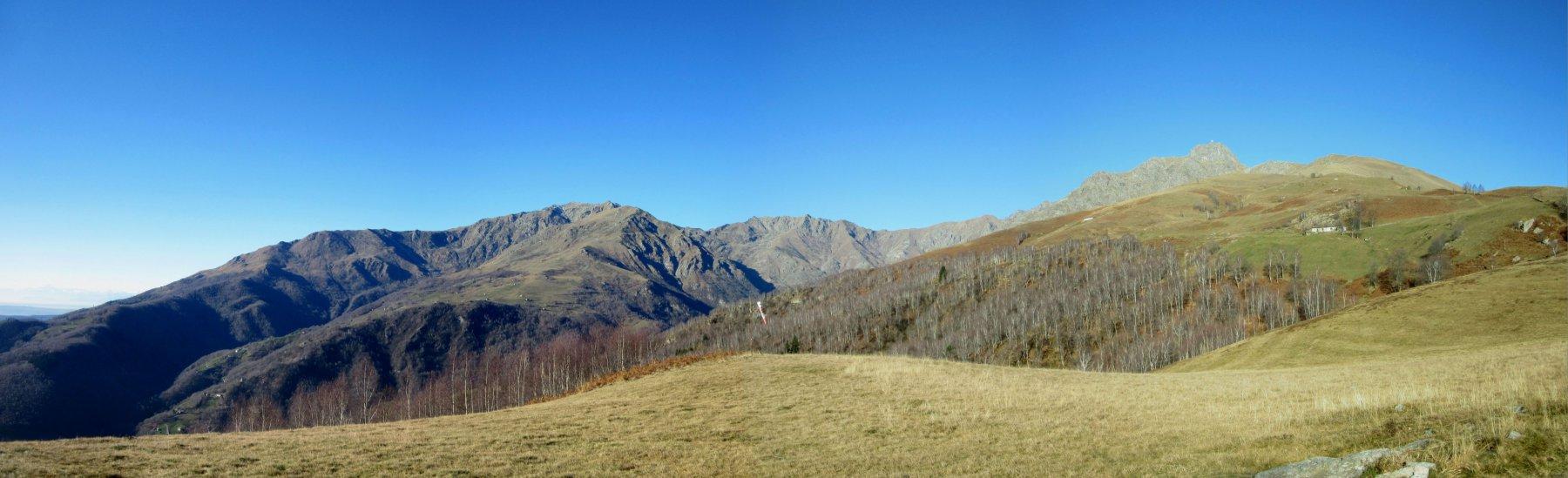 Panorama sul Mucrone e Mombarone