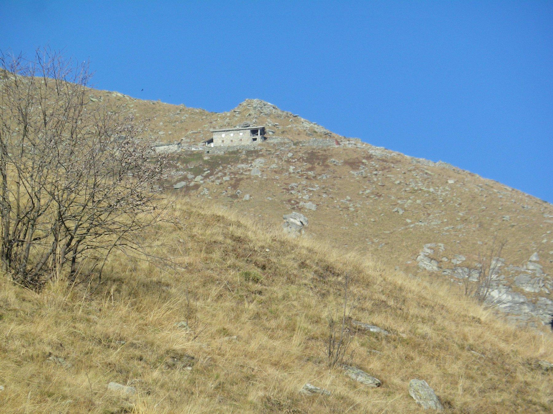 il costruendo rifugio Peretti Griva