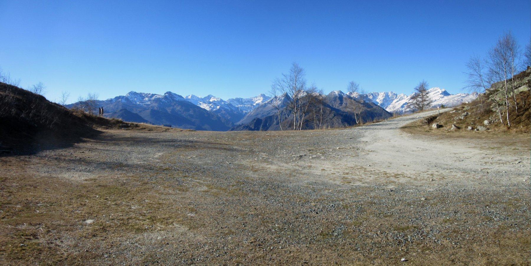 panorama dal Colle della Forchetta