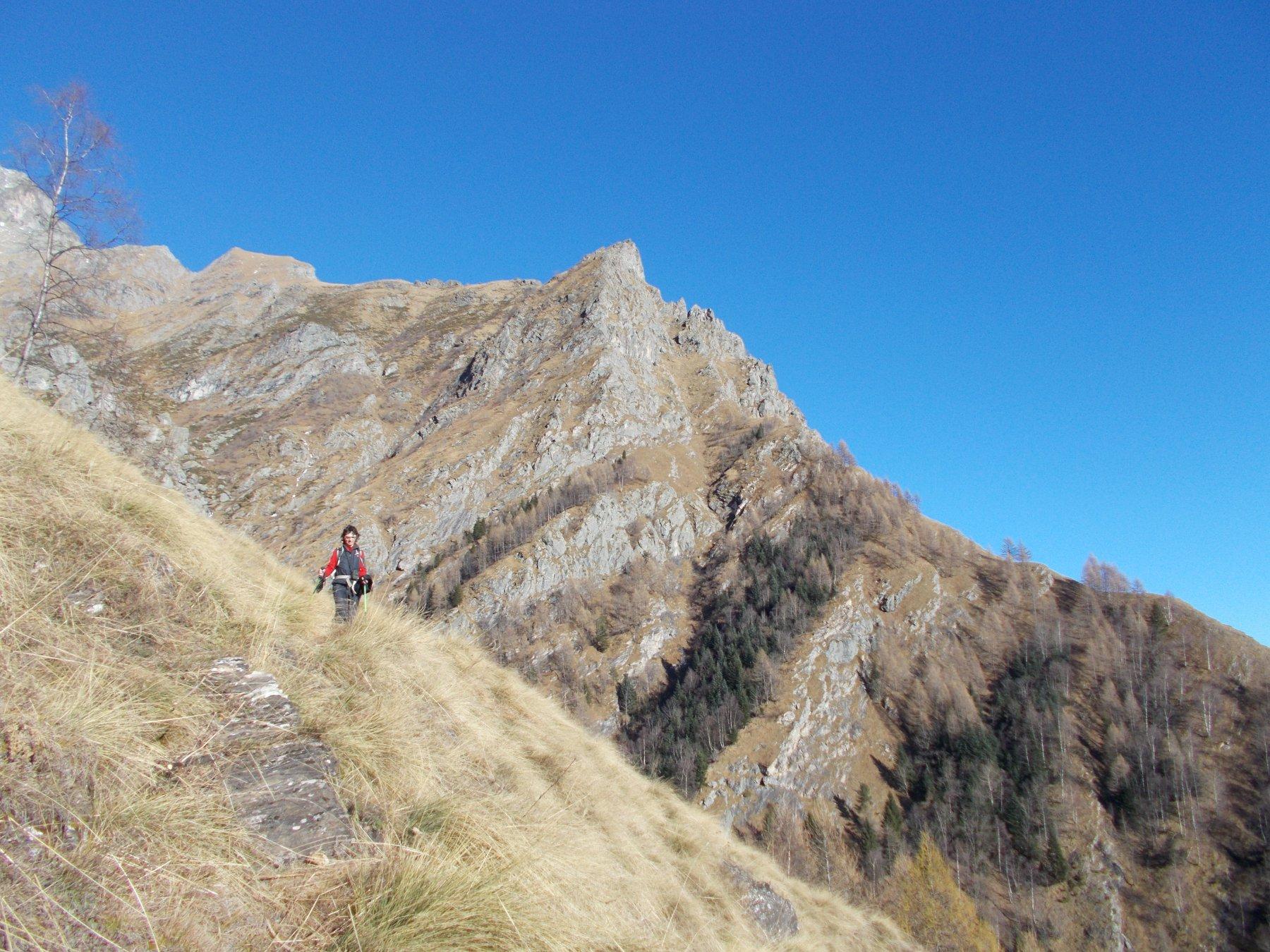 la Punta della Forcola dal sentiero al Lago Servin..