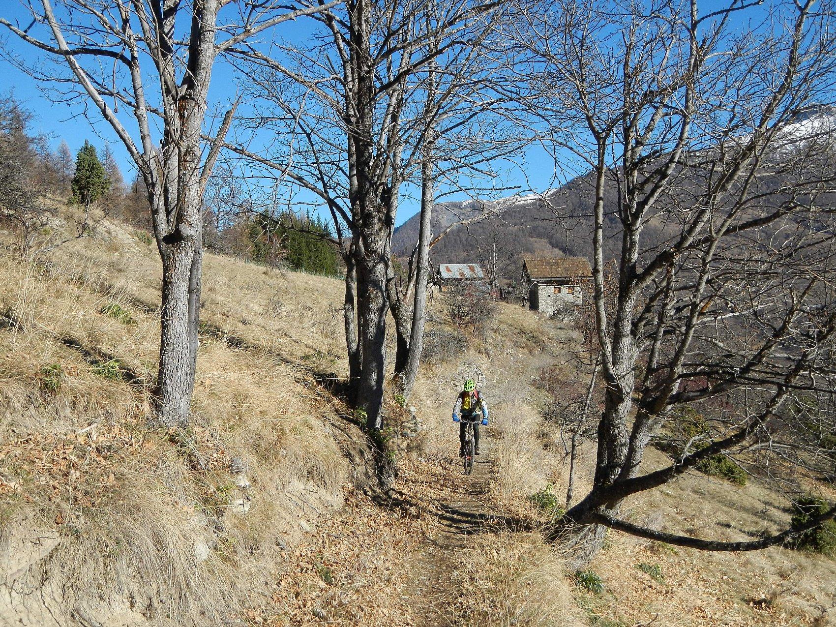 il sentiero verso Pra Claud