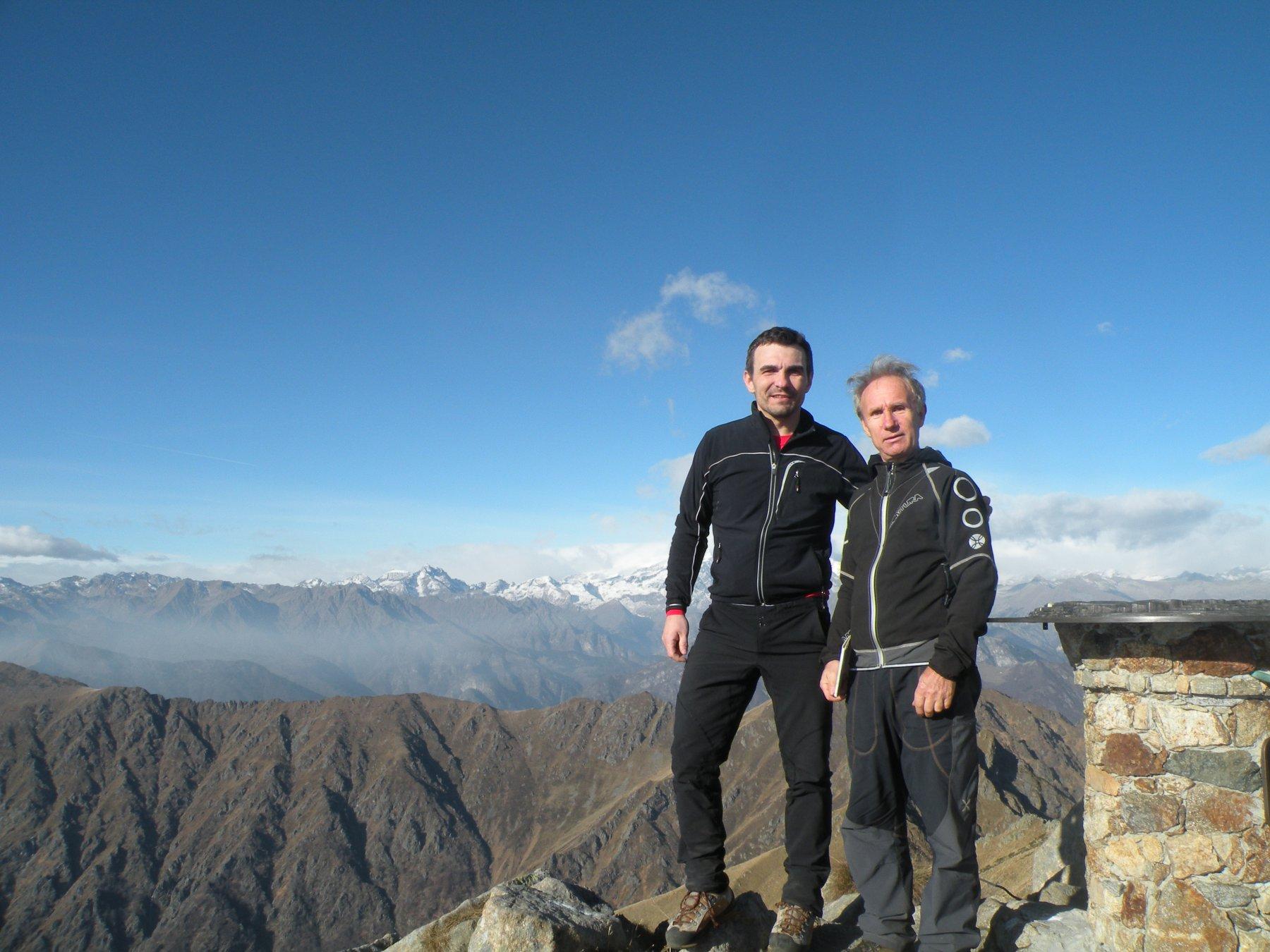 In vetta al Monte Barone trovo l'amico Giulio
