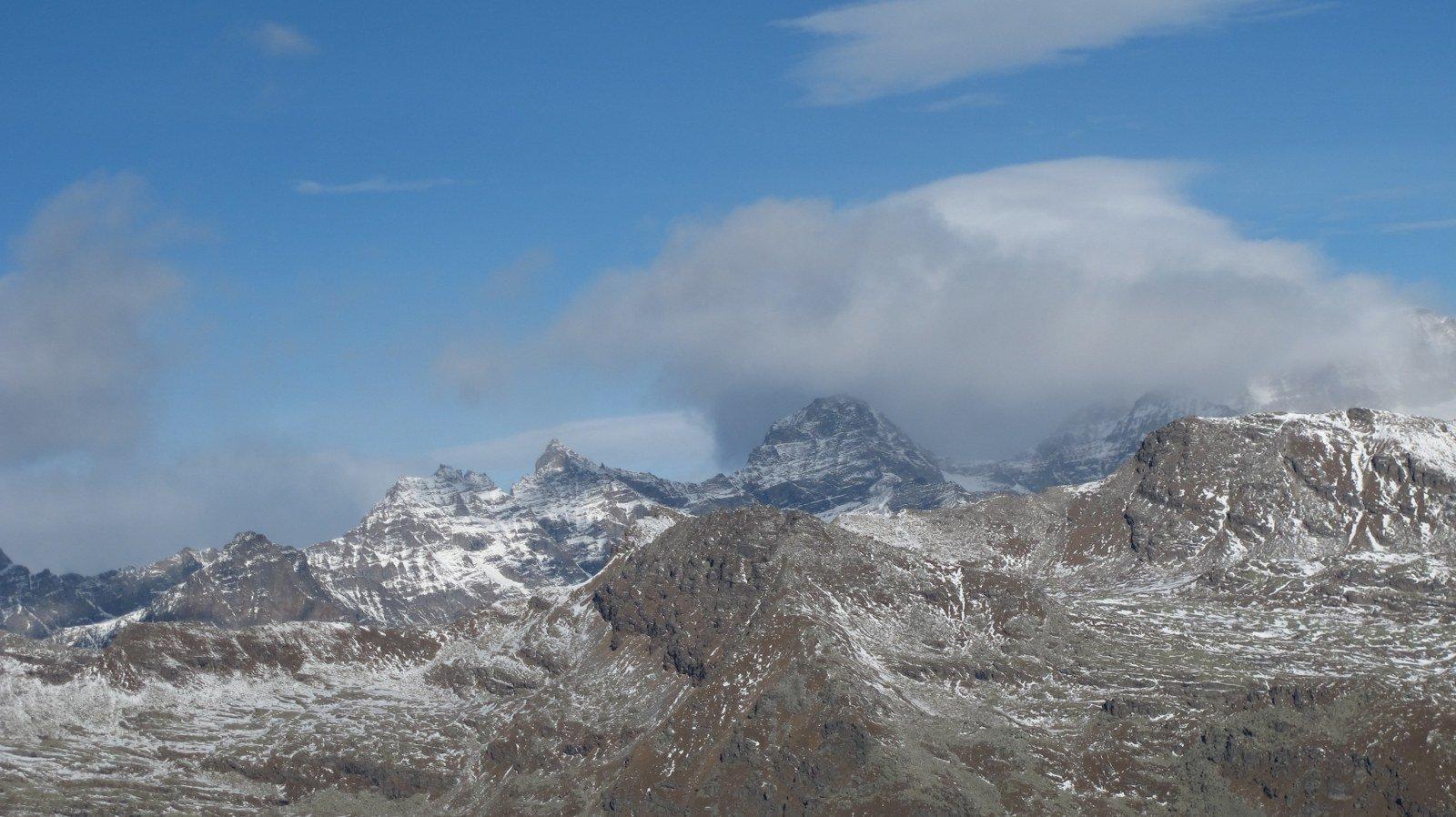 Denti del Broglio, Monciair, Ciarforon e Grampa nelle nuvole