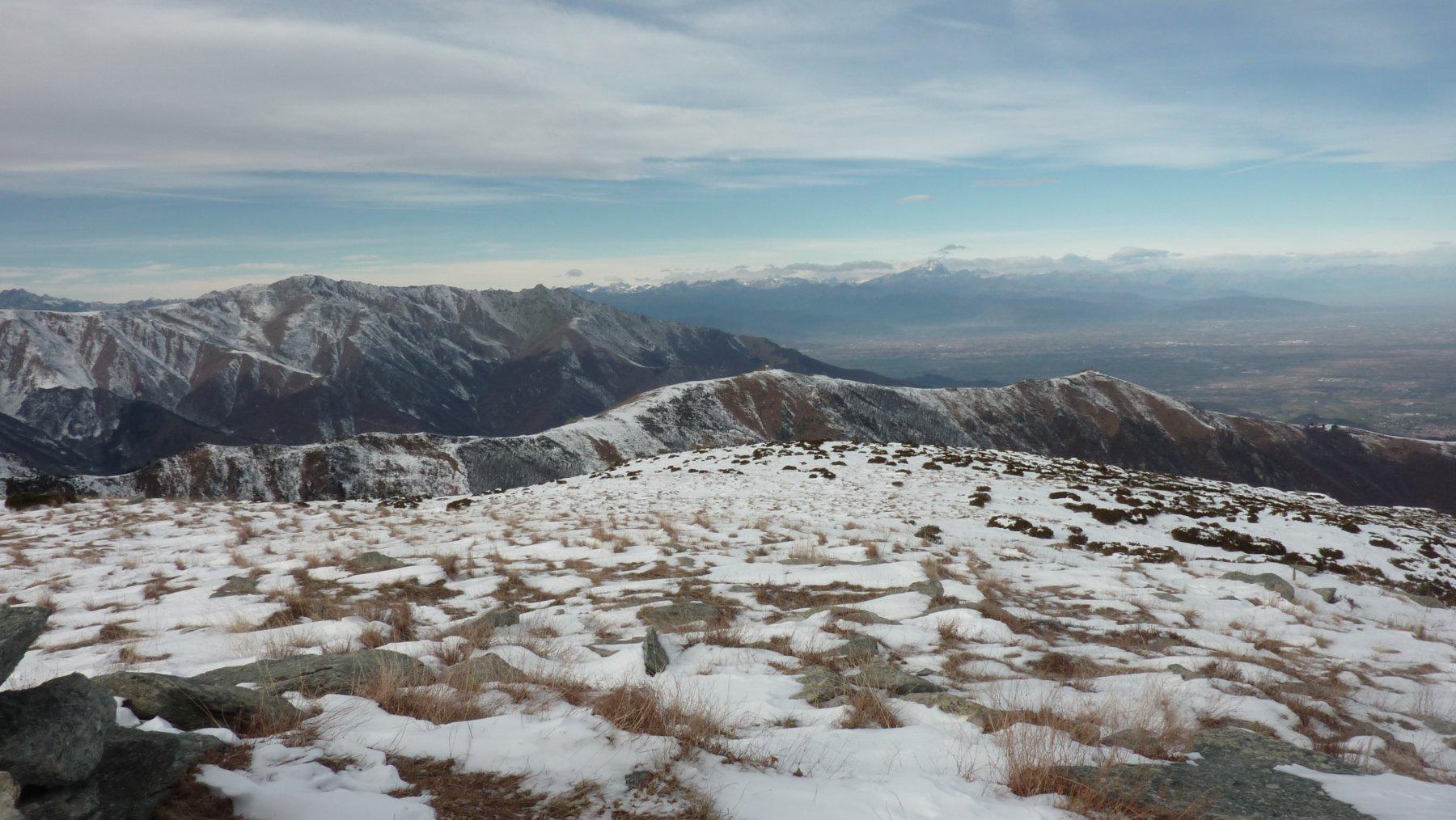 vista sulle alpi dalla cima durand