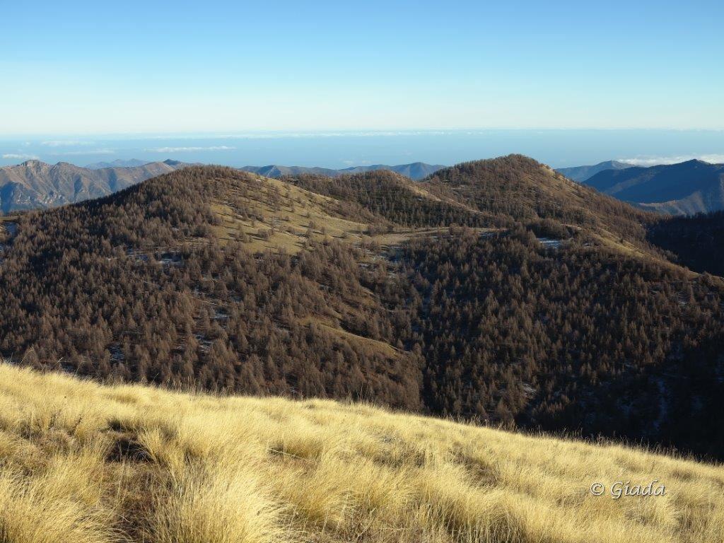 Dal Balcone di Marta vista verso il Monte Ceriane e il Grai