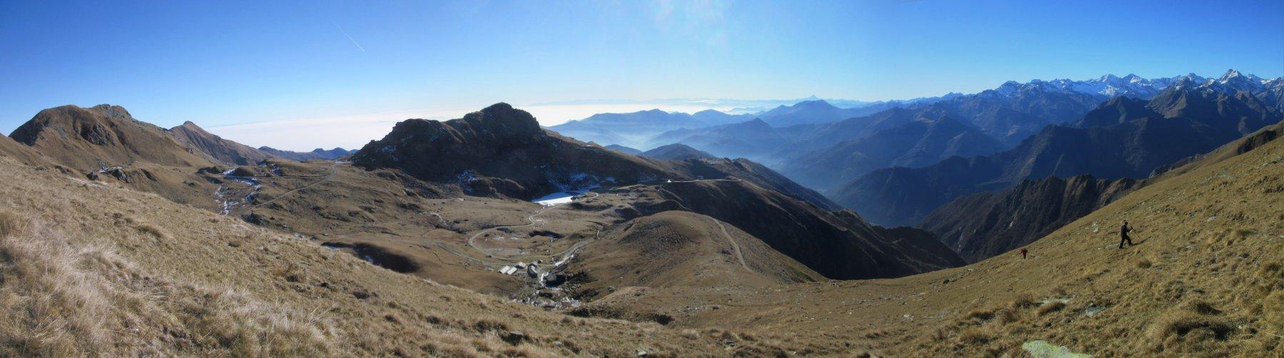 Salendo verso il Monte La Rossa
