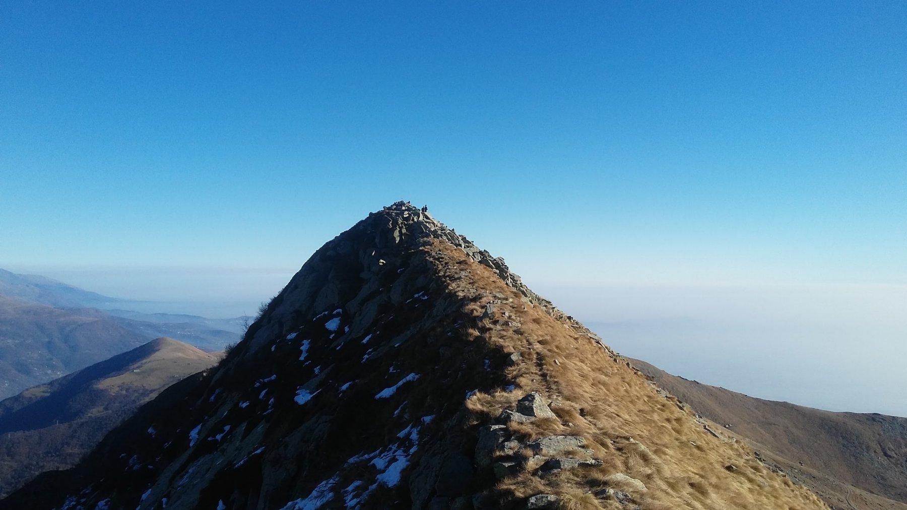 Ultimi metri sulla cresta