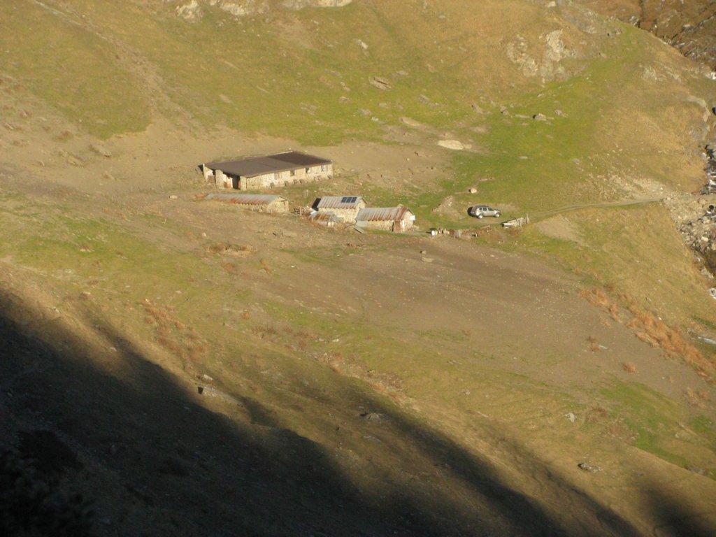 l'alpe Chaullieres, alla fine della sterrata ove si parcheggia