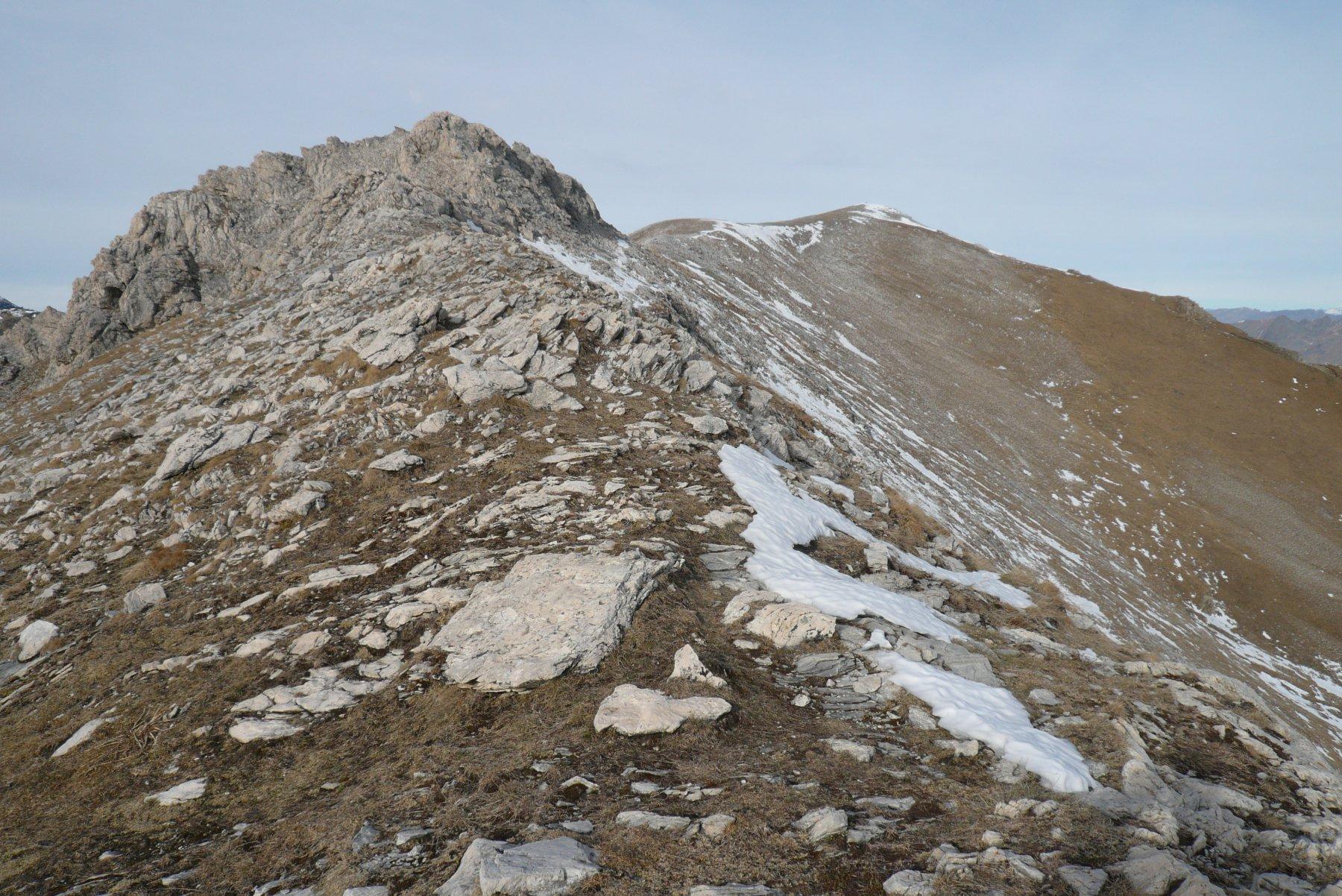 la cresta che da sea bianca va alla punta raboi completamente pulita