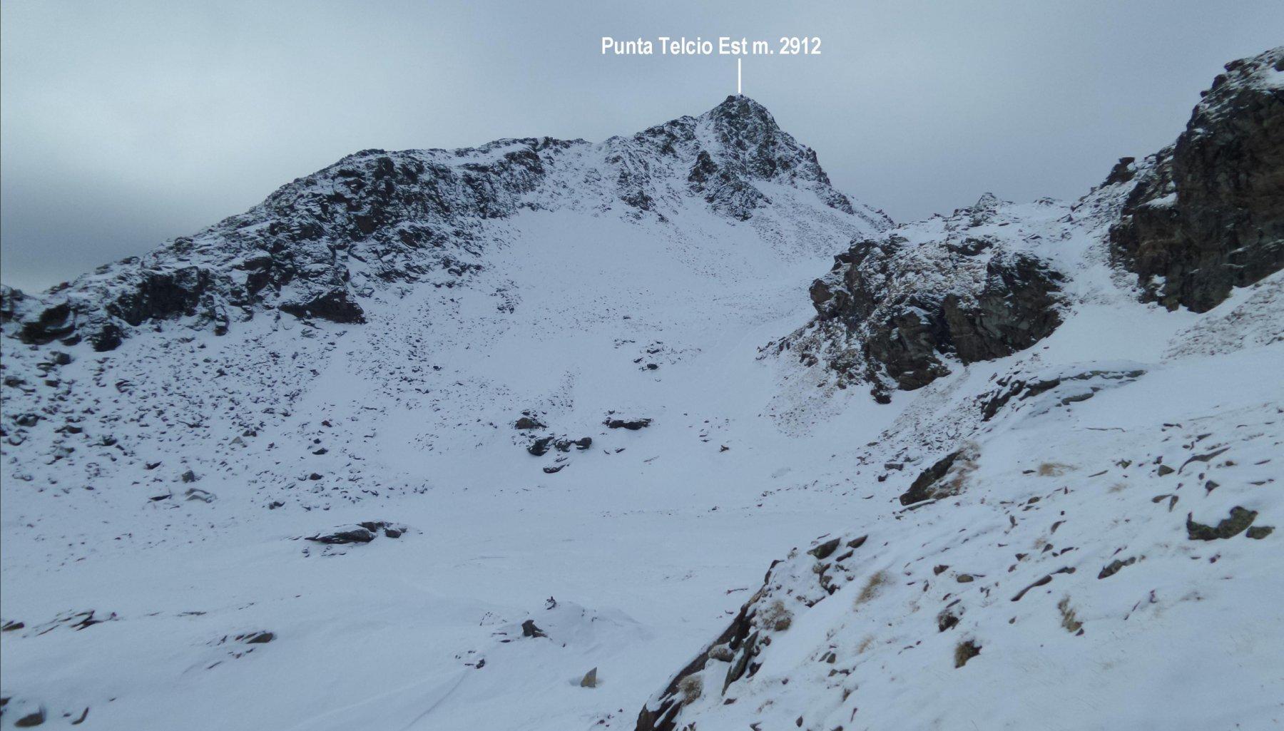 la Punta Telcio Est vista salendo al Colle di Salza