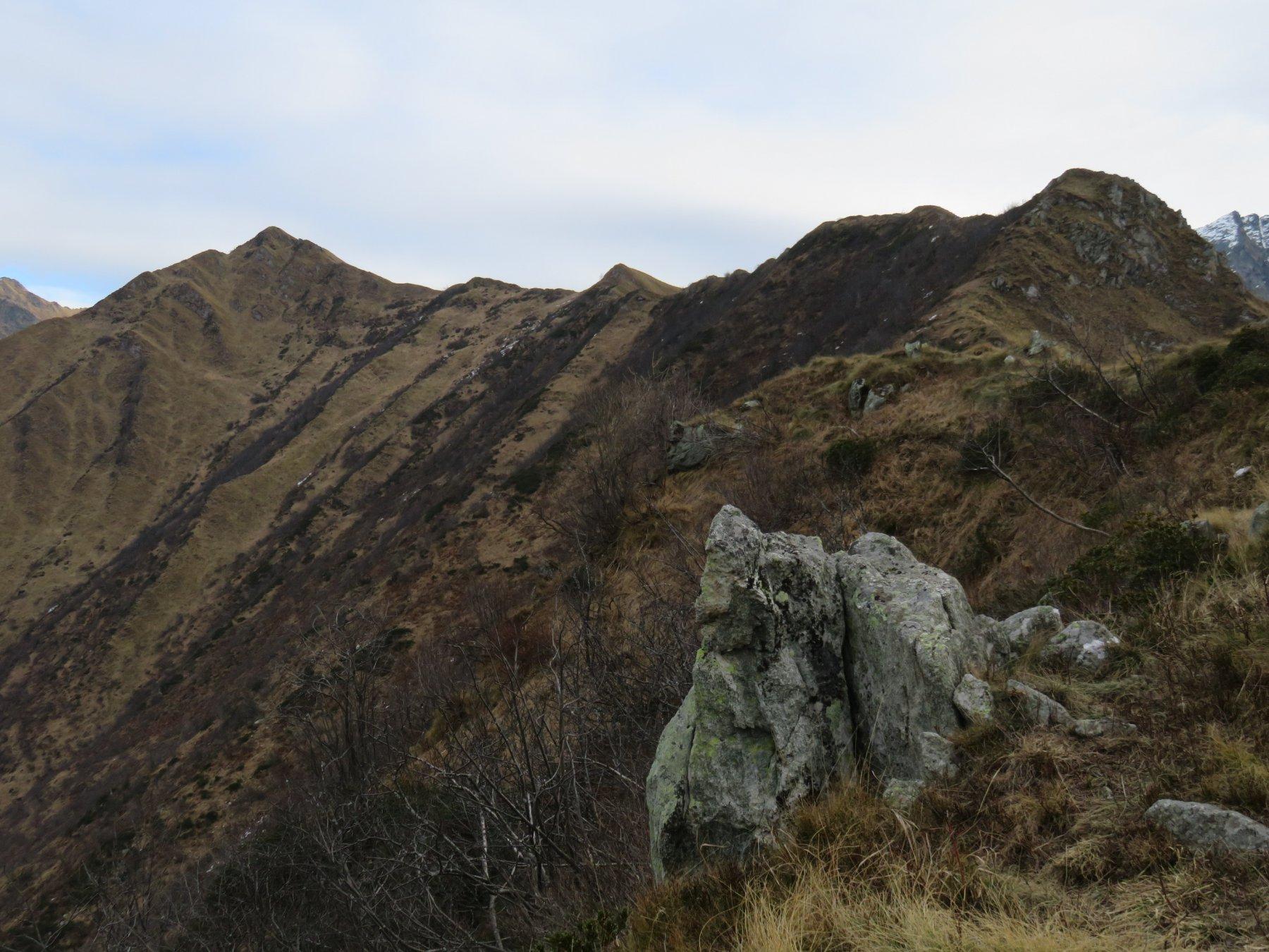 A sinistra la Cima la Rocco, a destra il Monte Rossin