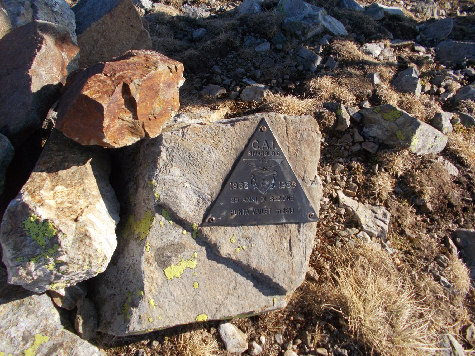il triangolino in cima al Vailet..
