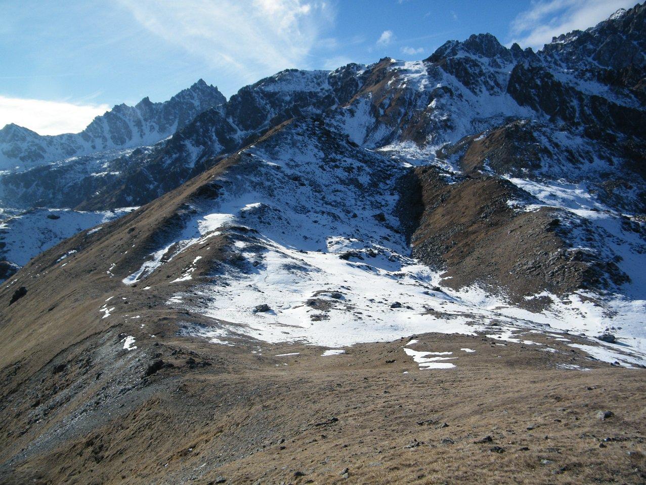 La cresta che unisce P.ta Murel alla Testa Rossa vista da quest'ultima
