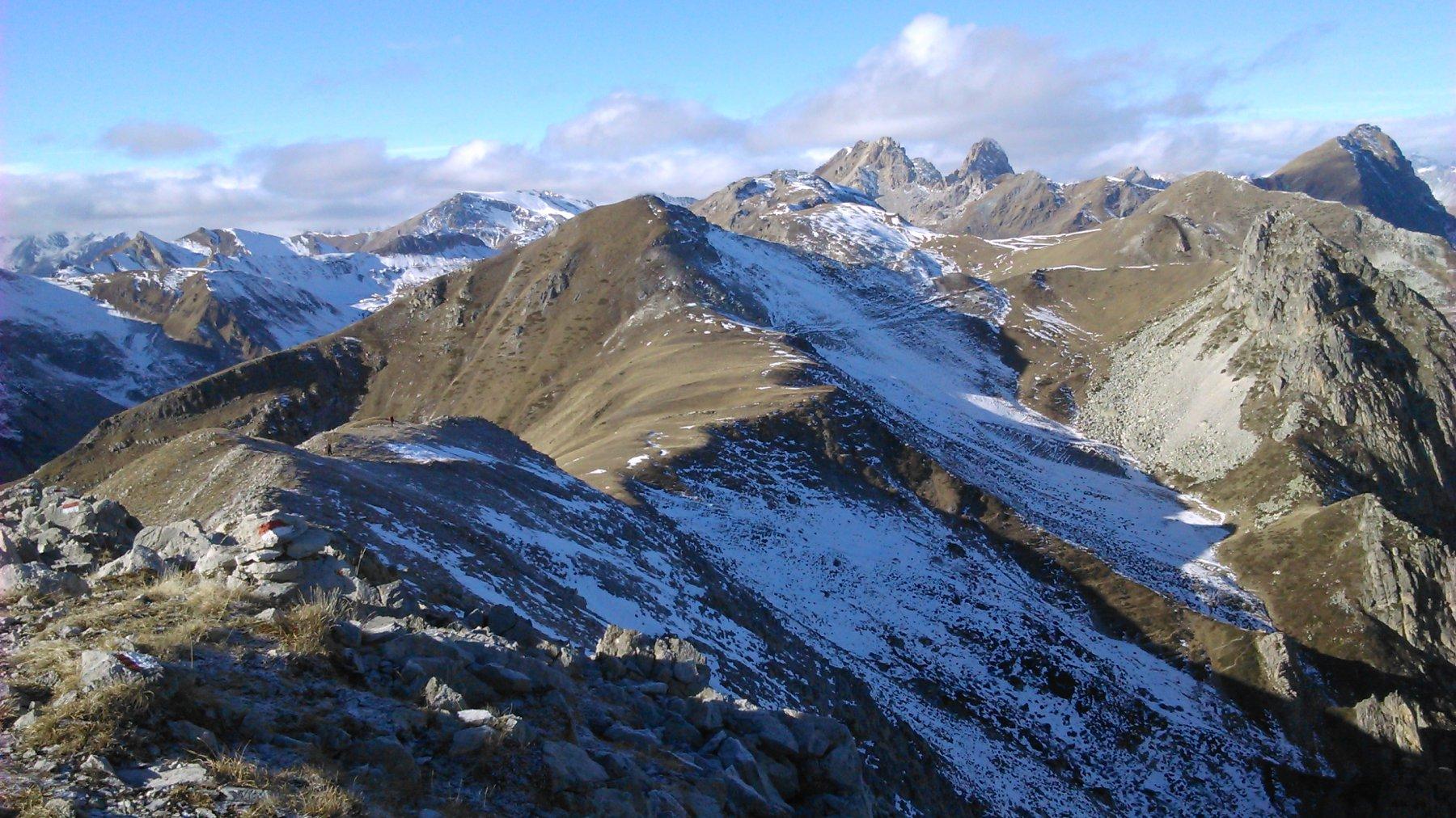 Viridio (Monte), Cima Viribianc e Punta Parvo dal Gias Cavera 2015-12-06