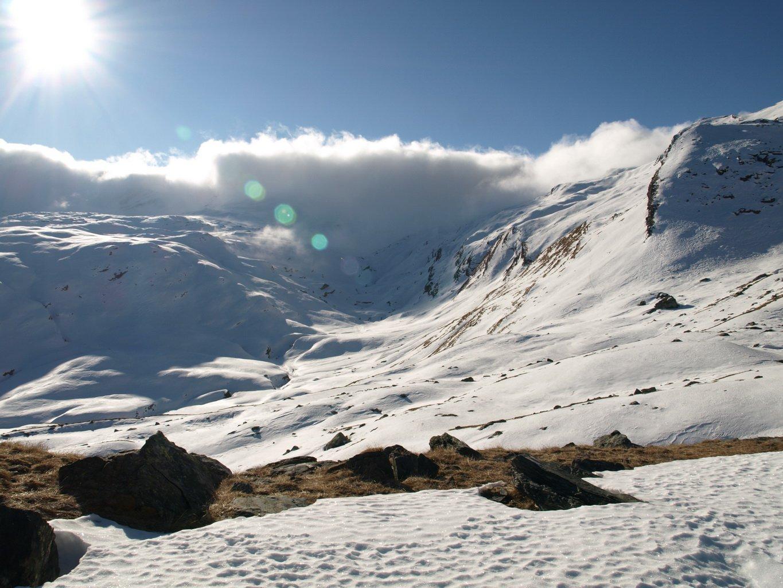 La valle ad est del Bec Costazza